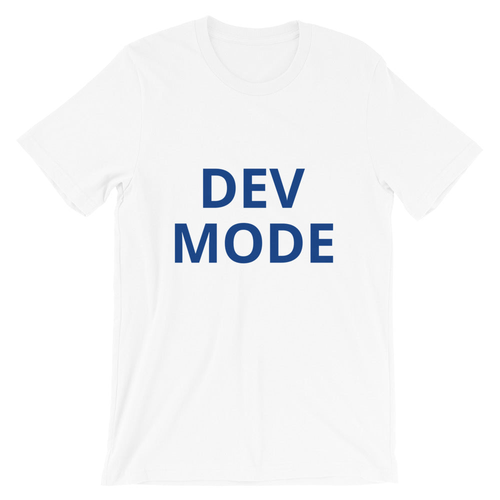 Dev Mode Unisex Tee (Dark Blue)