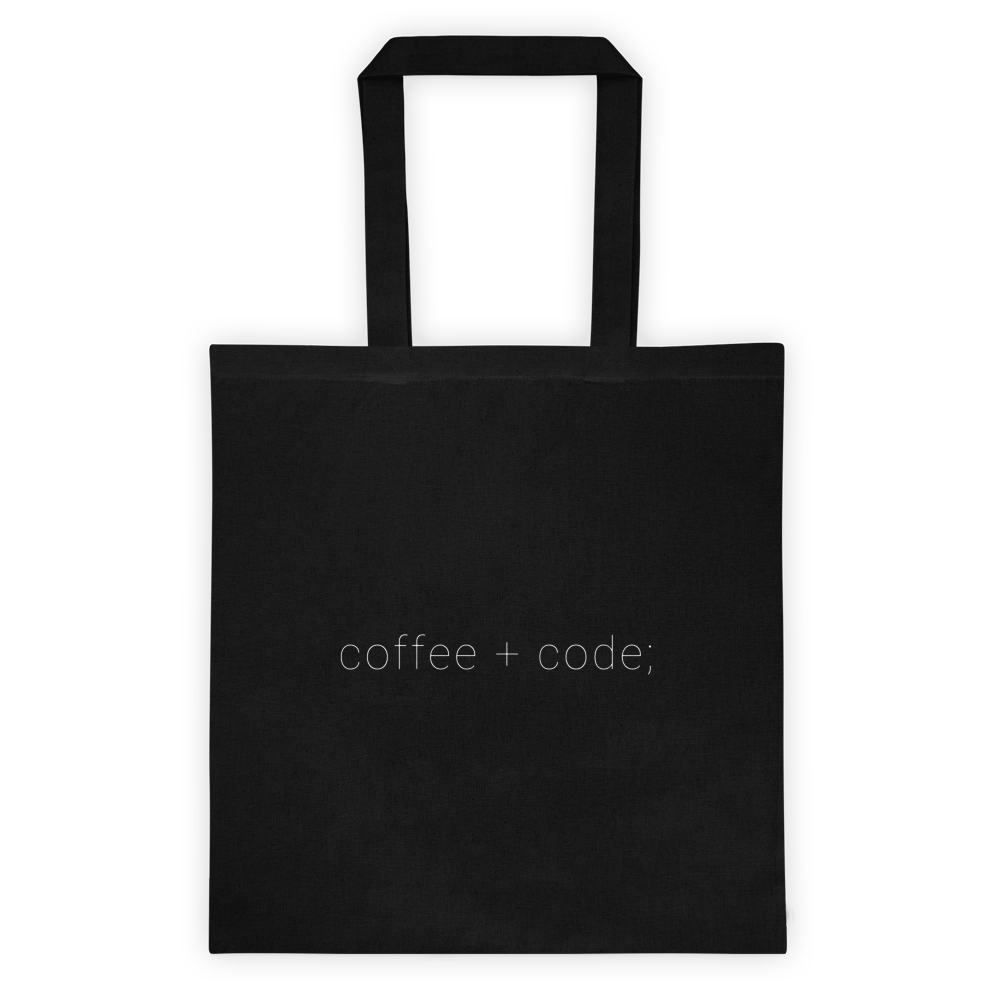 Coffee + Code Tote bag