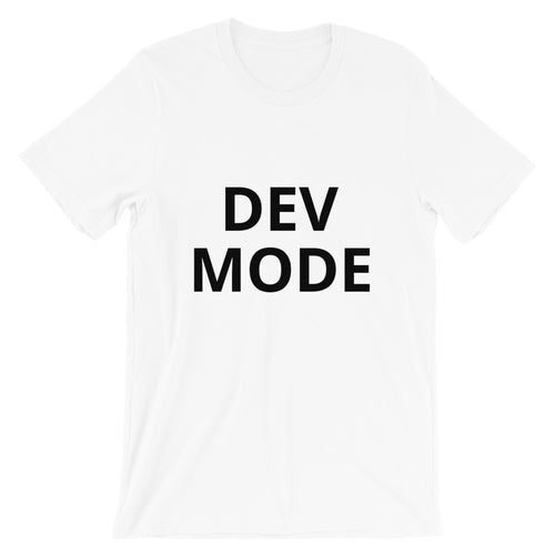 Dev Mode Unisex Tee (Black)