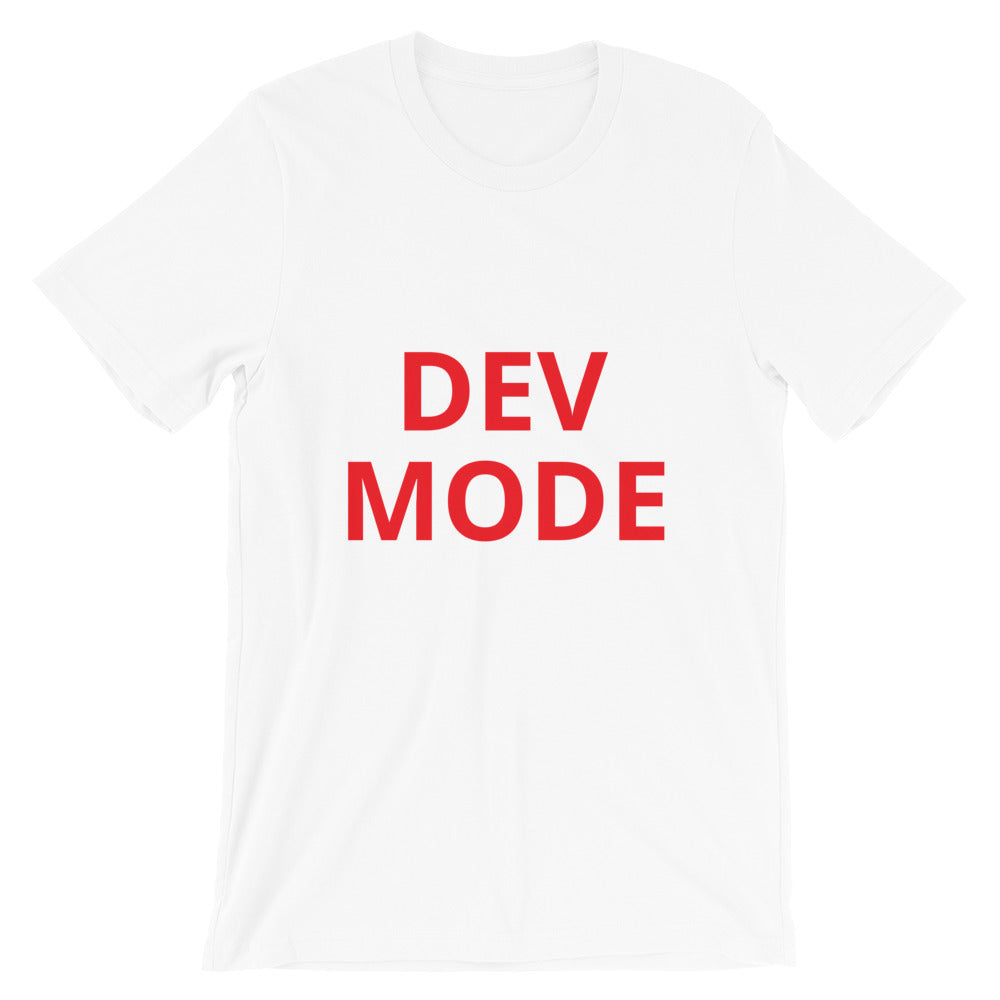 Dev Mode Unisex Tee (Red)