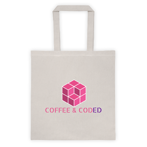 COFFEE & CODED Official Logo Tote bag