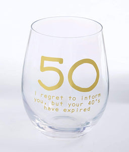 50 Wine Glass Boxed