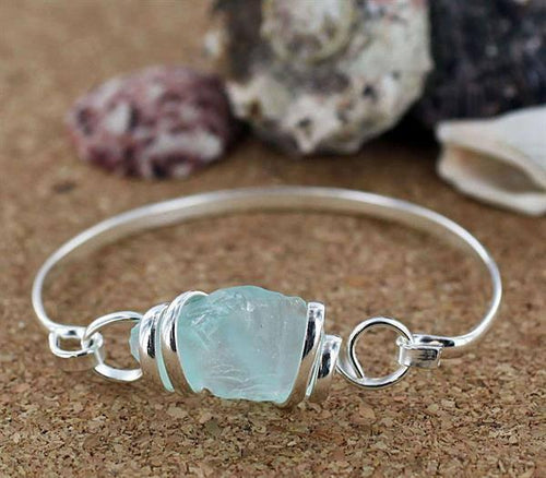 Authentic Sea Glass Cuff