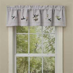 Hummingbird Lined Valance