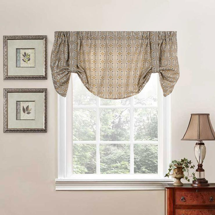 Andros Tie Up Valance Tan
