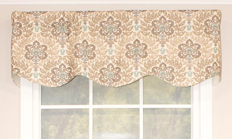 Arabesque Provance Valance in Natural
