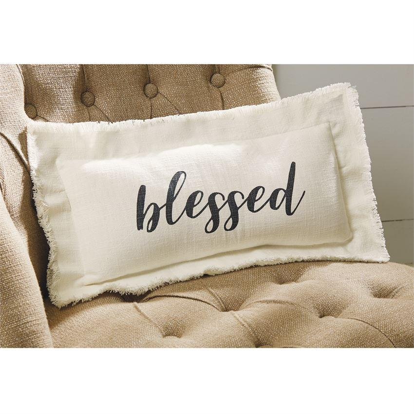 Blessed Frayed Pillow