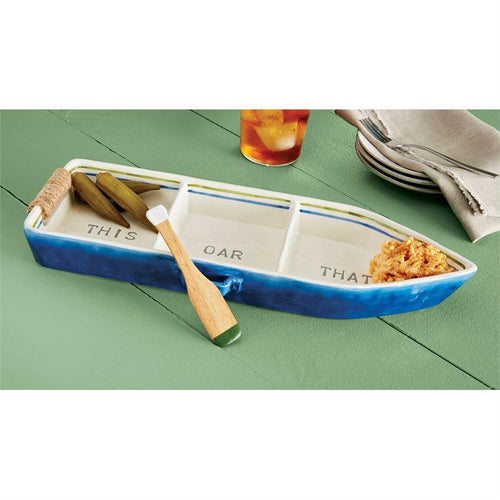 Boat and Paddle Server Set