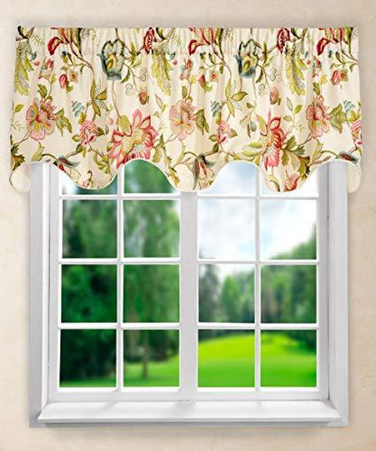 Brissac Scallop Valance Red