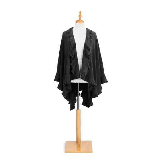 Charcoal Ruffle Shawl