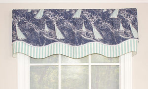 Chart a Course Valance in Navy