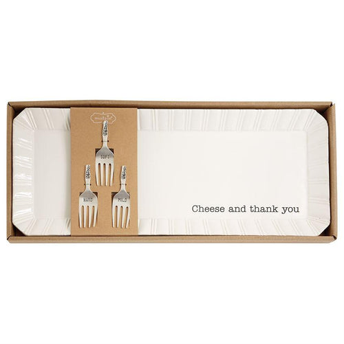 Cheese and Thank You Tray Set