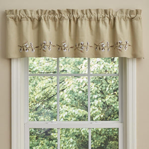Cotton Wreath Lined valance