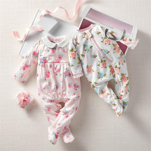 Floral Sleeper Set