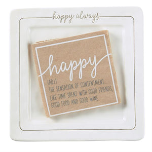 Happy Cheese Plate Set