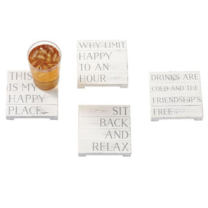 Happy Place Coaster Set