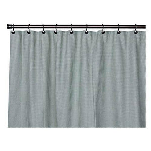 Logan Check Shower Curtain in Green
