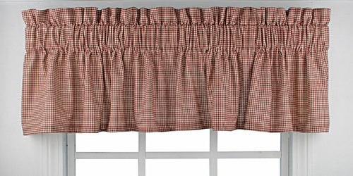 Logan Check Valance Red