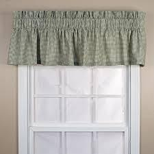 Logan Check Valance in Green