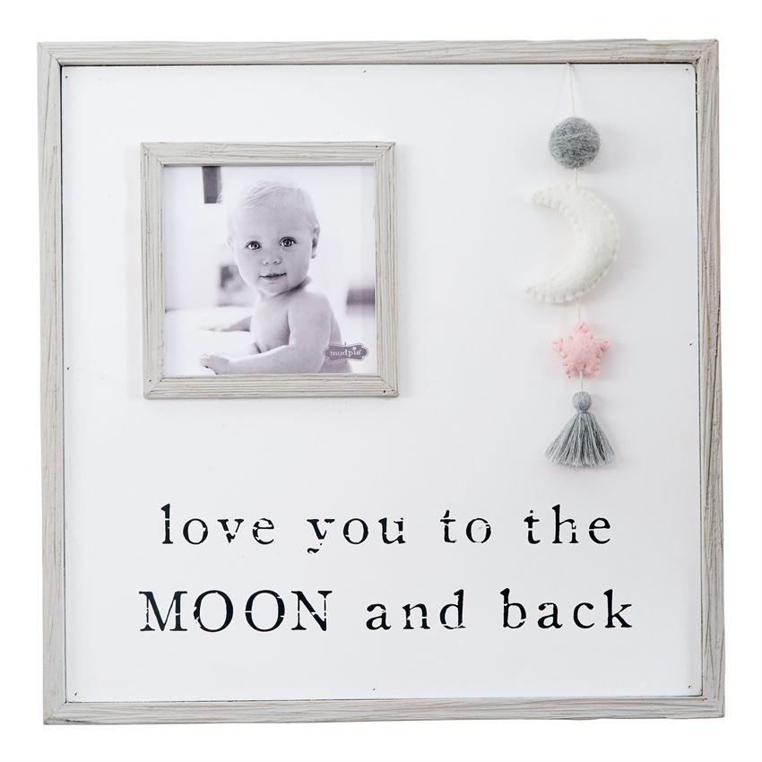 Love You to the Moon Pink Picture Frame