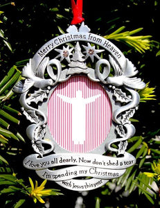 Merry Christmas From Heaven Ornament-Photo Frame