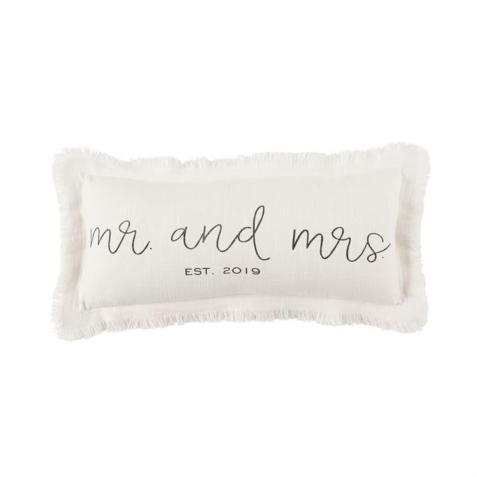 Mr. and Mrs. Frayed Pillow