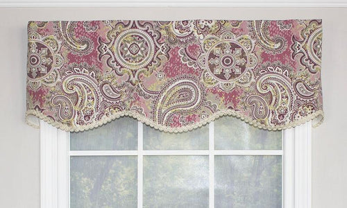 Paisley Party Valance in Pink