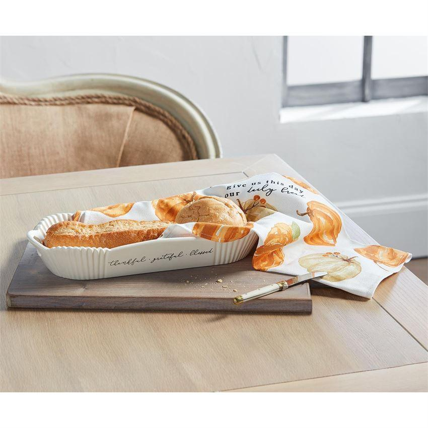 Pumpkin Bread Bowl and Towel Set