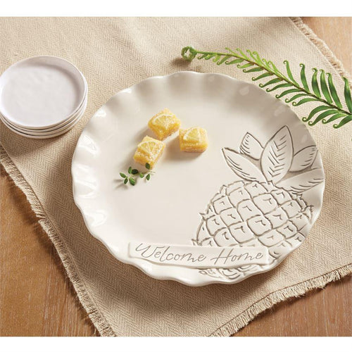 Ruffled Pineapple Round Tray