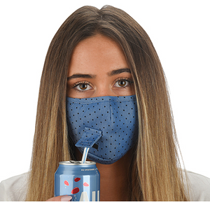 Straw Sipper Face Mask