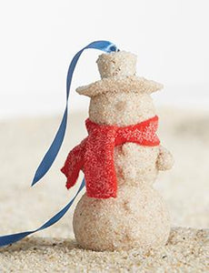 Sandy Snowman Ornament