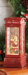 Santa Telephone Booth Lantern