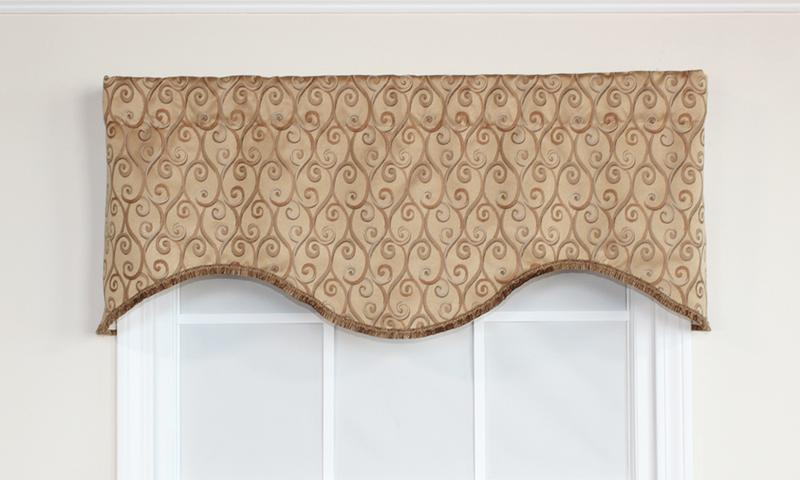 Twine Cornice Valance in Gold