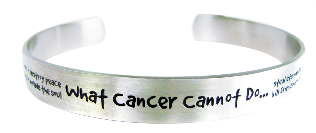 What Cancer Cannot Do Cuff