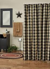 Wicklow Black and Cream Shower Curtain