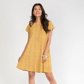 Yellow Cap Sleeve Dress