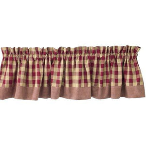 York Valance in Wine