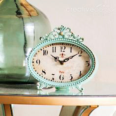 Mantle/Table Clock Aqua