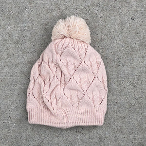 Cable Knit Pom Pom Hat