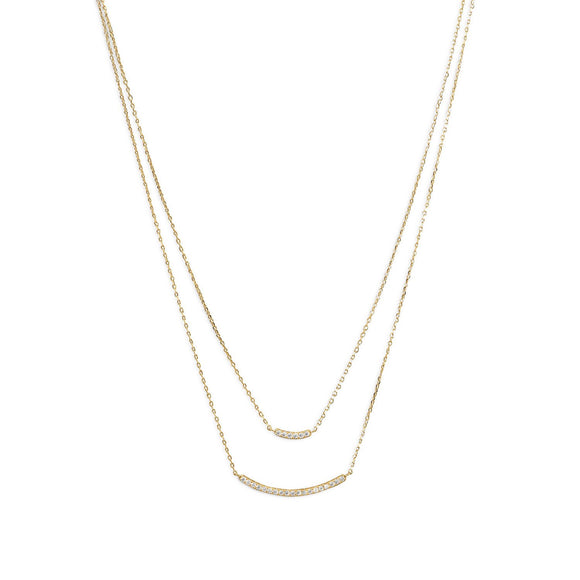 Finn-the double strand bar necklace