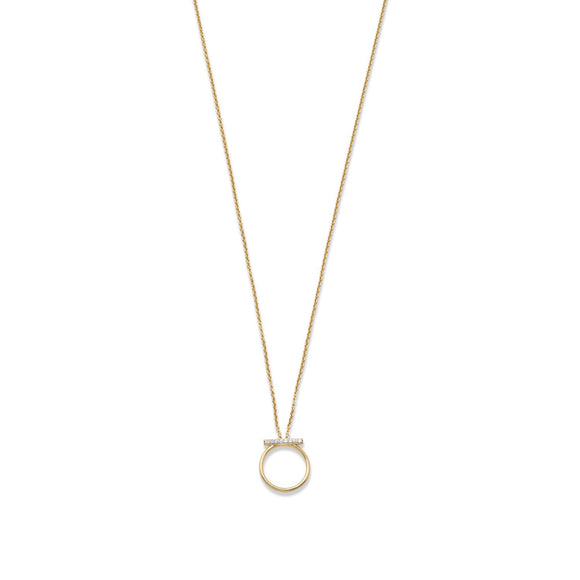 Cassie Bar Circle Necklace