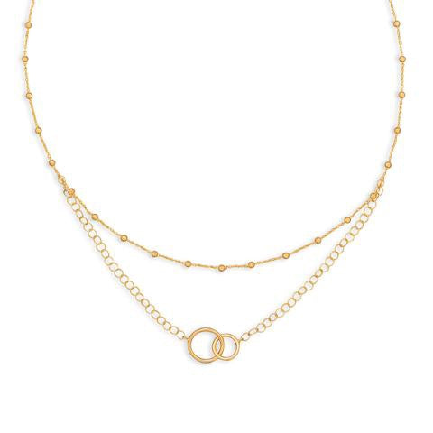 Golden Rule Multistrand necklace