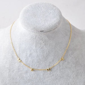 "14K gold plated sterling silver ""MAMA"" necklace"