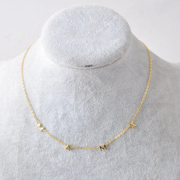 "**PREORDER** 14K gold plated sterling silver ""MAMA"" necklace"