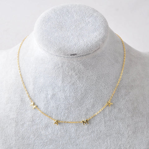 "PRE-ORDER: 14K gp sterling silver ""MAMA"" necklace"