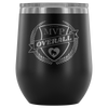 Wine Tumbler - MVP Overall Derby themed apparel - Roller Derby Love