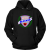 Unisex Hoodie - MVP Blocker Derby themed apparel - Roller Derby Love