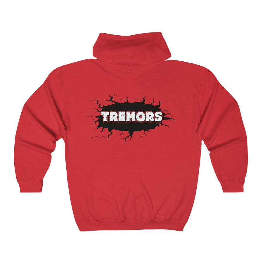 Full Zip Hoodie - San Diego Tremors Derby themed apparel - Roller Derby Love