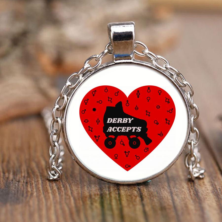Necklace - Derby Accepts - Roller Derby themed apparel by RollerDerby.Love