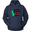 Unisex Hoodie - Roller Derby Love - UK - Roller Derby themed apparel by RollerDerby.Love